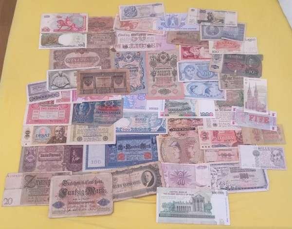 GELDSCHEINE Banknoten WELT 50 Stück gebraucht Lot 12201