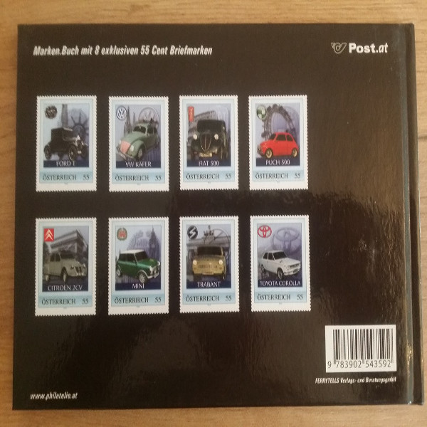 Briefmarkenbuch Alltagsklassiker 8 exklusive 55 Cent Marken die die Welt bewegten