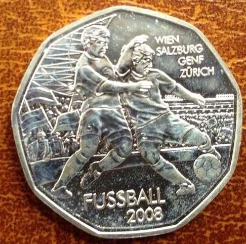 5 Euro Silber 2008 Fussball Dribbler lose ANK Nr. 11b