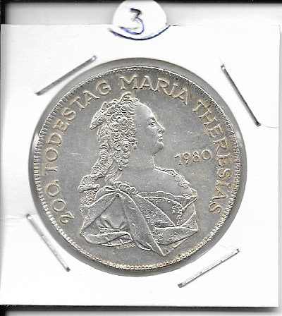 ANK Nr. 03 200 Todestag Maria Theresia 1980 500 Schilling Silber Normal