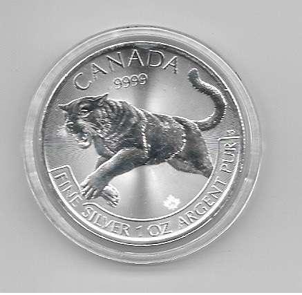 Kanada 5 Dollars 2016 Puma Berglöwe 1 Unze Silber Oz Canada