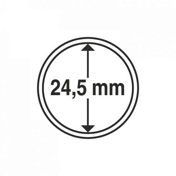 MÜNZKAPSELN CAPS 24,5 MM, 10 ER PACK