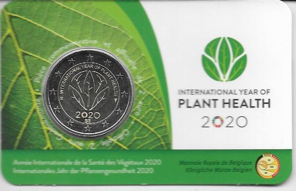 2 Euro Belgien 2020 Plant Health