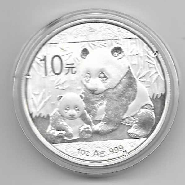 China 10 Yuan 2012 Panda 1 Oz