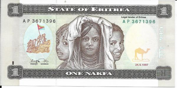 Eritrea - 1 Nakfa 1997 UNC - Pick 1