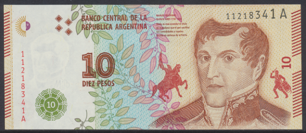 Argentinien – 10 Pesos (2016) (P.360) Erh. UNC