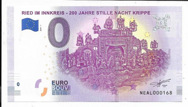 ANK.Nr.19 Ried im Innkreis 200 Jahre Stille Nacht Krippe Unc 0 Euro Schein 2019-1