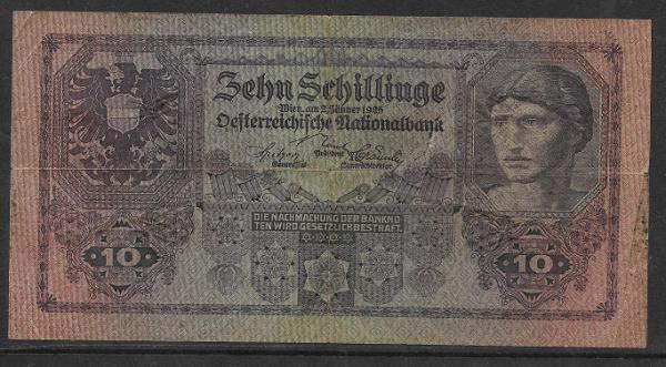 10 Schilling 2 Jänner 1925 Ank.Nr.212 Pick 89 Nr. 1021 604063