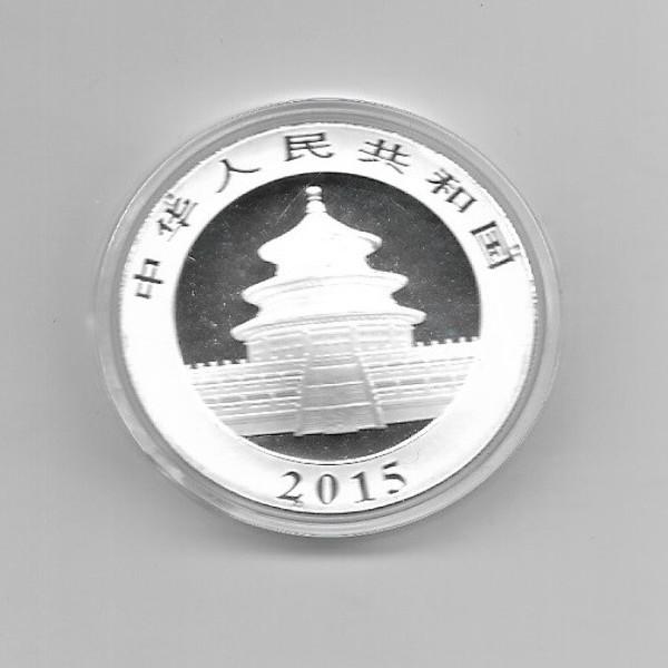 China 10 Yuan 2015 Panda 31,1g Silber