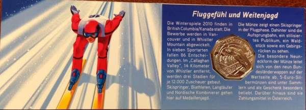 5 Euro Silber 2010 Winterspiele Skispringer ANK Nr. 16c