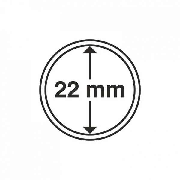MÜNZKAPSELN CAPS 22 MM, 10 ER PACK