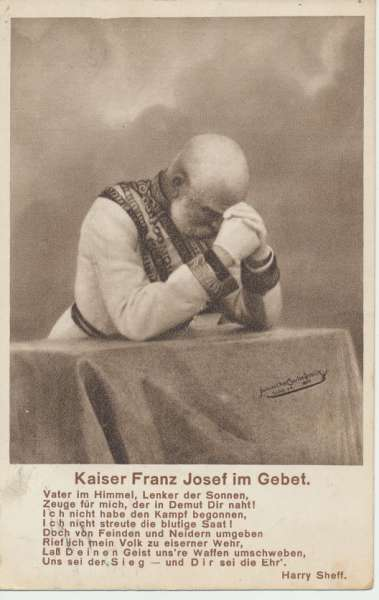 Kaiser Franz Josef im Gebet KFJ I