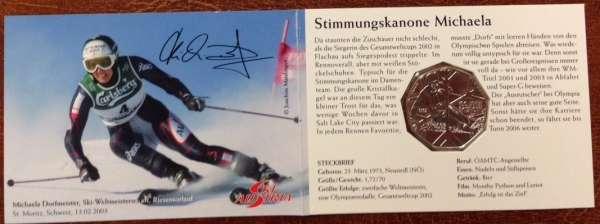 5 Euro Silber 2005 Skisport Michaela Dorfmeister ANK Nr.5c