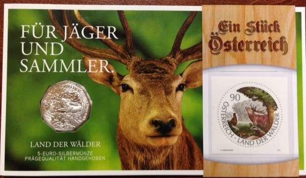 5 Euro Silber 2011 Land der Wälder Blister / Post ANK Nr.20