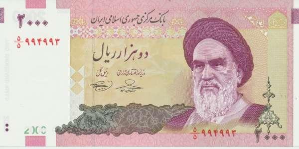 Iran - 2000 Rials 2005- UNC - Pick 144