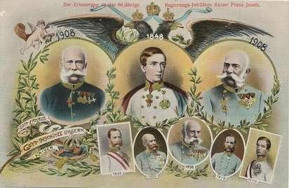 Kaiser Franz Josef 60 Jähriges Regierungs Jubiläum 1848-1908 Gott Erhalte...