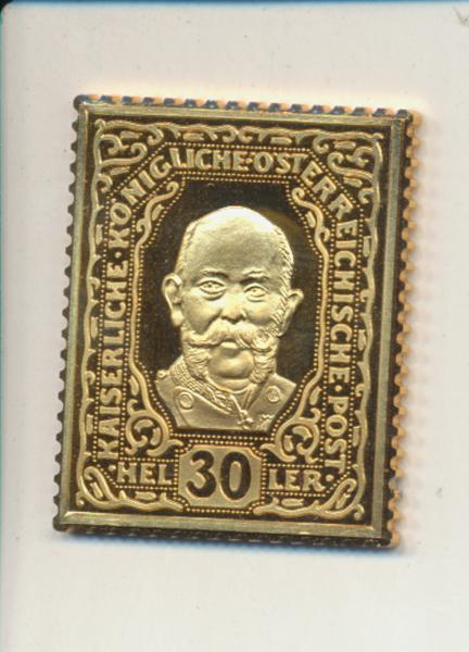 K&K Jubiläums Collection Franz Joseph Kaisermarke 30 Heller 1916 Silber Gold