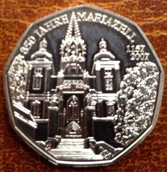5 Euro Silber 2007 850 Jahre Mariazell lose ANK Nr.10b