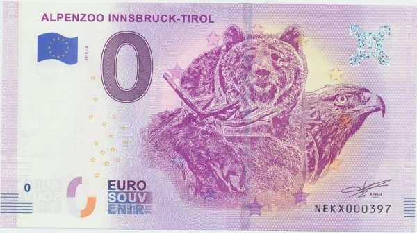 ANK.Nr.18 Alpenzoo Innsbruck Tirol - Unc 0 Euro Schein 2018-2