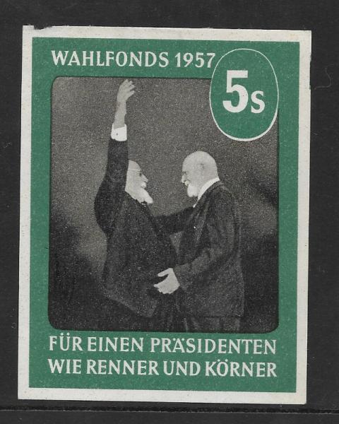 Parteispende Wahlfonds 1957 5 Schilling Wie Renner und Körner