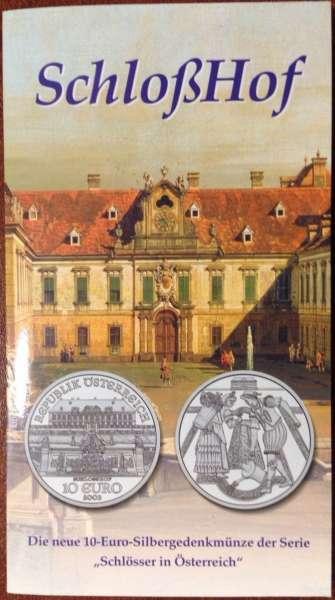 10 Euro Silber 2003 Schloss Hof HgH - ANK Nr. 03
