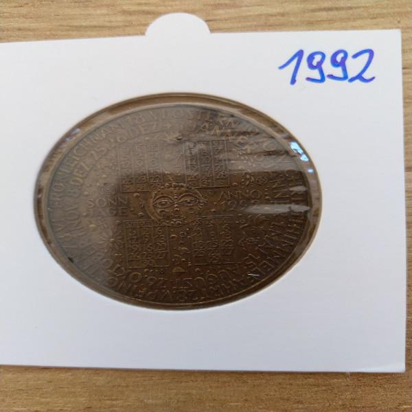 1992 Kalendermedaille Jahresregent Bronze