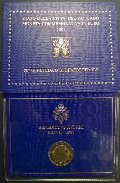 2 Euro Vatikan 2007 80 Geb.Benedikt