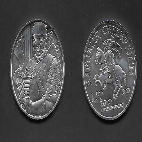 Österreich - 1,5 Euro 2019 - Leopold V - 825 Jahre Münze Wien - 1 Oz. Silber