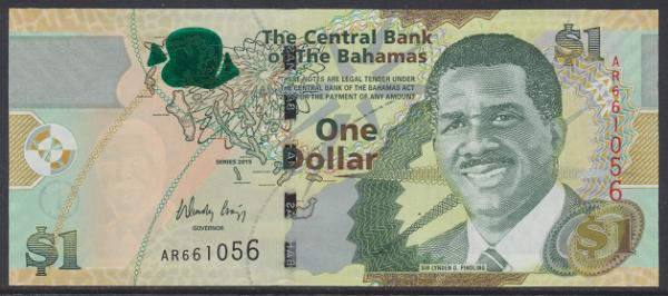 Bahamas -1 Dollar 2015 UNC - Pick 71