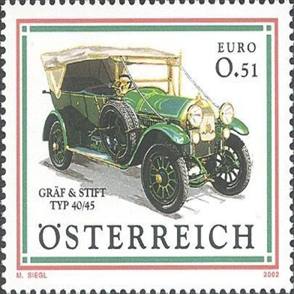 "ANK 2426 Autos - ""Gräf & Stift Typ 40/45"" 0,51 €** 2002"