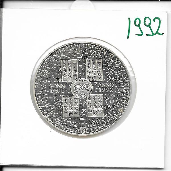 1992 Kalendermedaille Jahresregent Silber