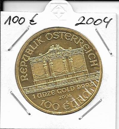 2004 Philharmoniker 1unze 100 Euro 31,1 Gramm