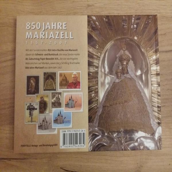 Briefmarkenbuch 850 Jahre Mariazell 1157-2007 mit 7 Sondermarken sowie Buntdruck