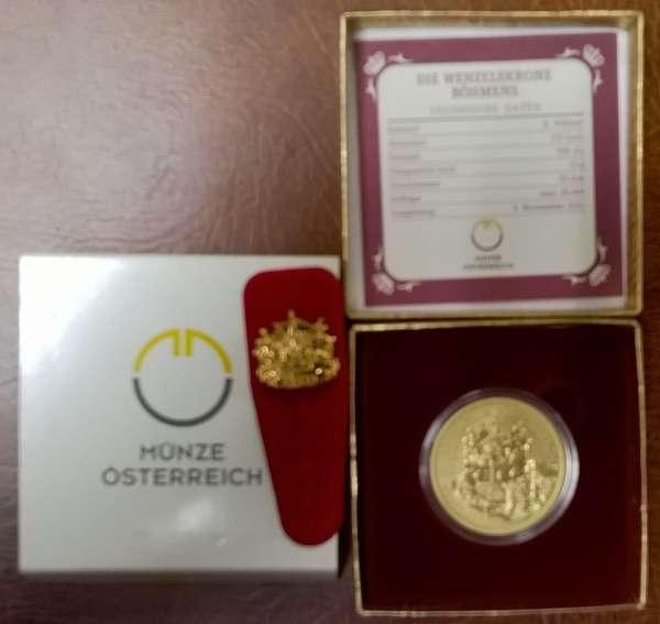 2011 - 100 Euro Gold Die Wenzelkrone Böhmens (2011)