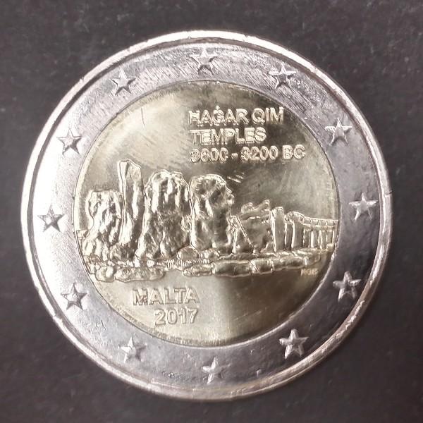 2 Euro Malta 2017 Tempel Hagar Qim