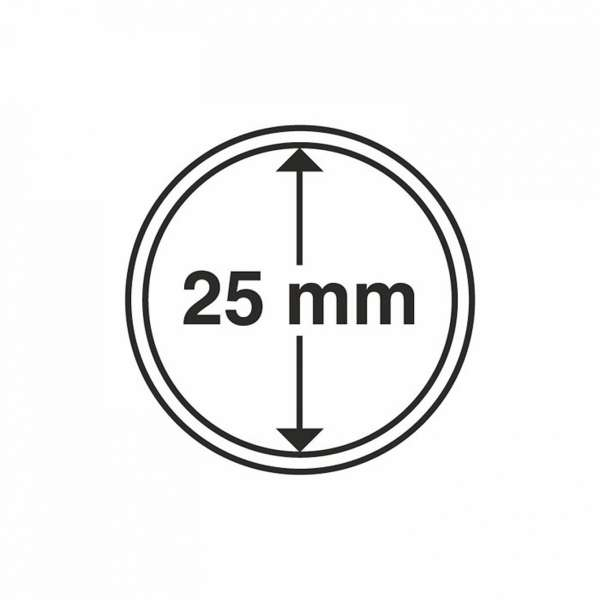 MÜNZKAPSELN CAPS 25 MM, 10 ER PACK