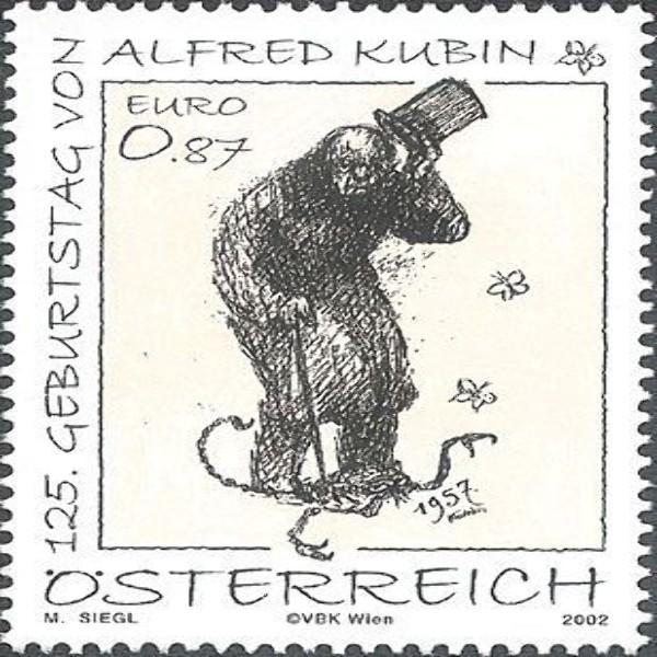 ANK 2408 125. Geburtstag von Alfred Kubin 0,87 € **