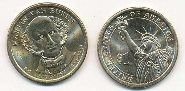 USA 1 Dollar 2008 P Martin van Buren (8)