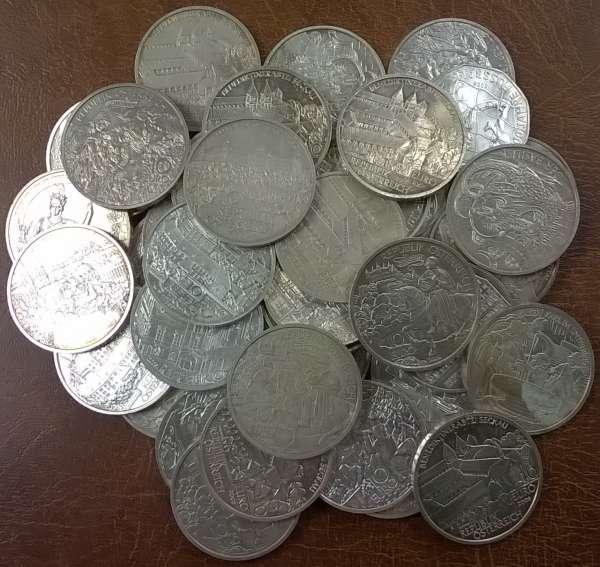 50 Stück 10 Euro Silber Österreich 800gr. Feinsilber