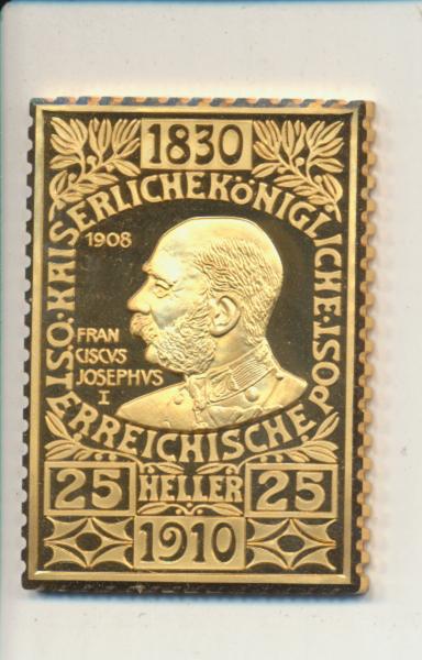 K&K Jubiläums Collection Franz Joseph 1910 25 Heller 1910 Silber Gold