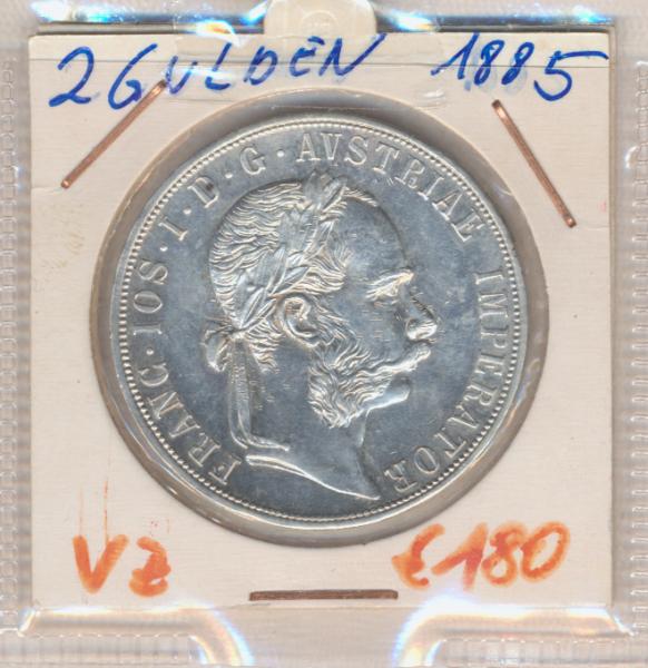 2 Gulden 1885 Silber