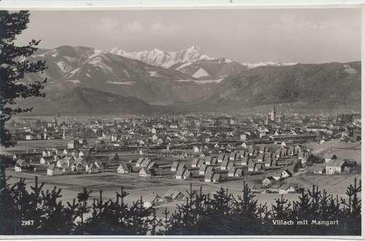 Villach mit Mangart ca.1941