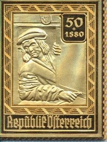Collection Magna Austria Silber Österreich 50Gr +1S80 Wiederausbau Stephansdom 24 Karat Vergoldet