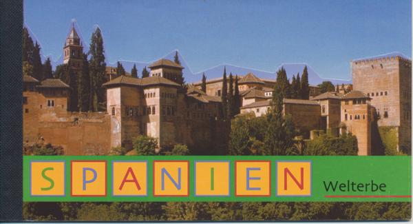 UNO Wien Markenheft Nr. 5 - Welterbe Spanien 2000 Gestempelt