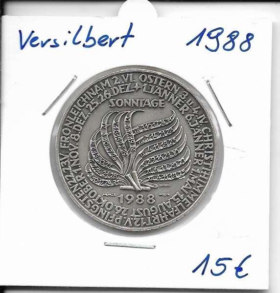 1988 Kalendermedaille Jahresregent Bronze versilbert
