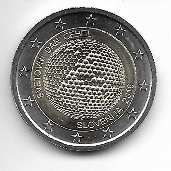 2 Euro Slowenien 2018 Weltbienentag