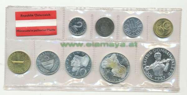 1967 Jahressatz Kursmünzensatz KMS Mintset