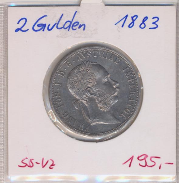 2 Gulden 1883 Silber
