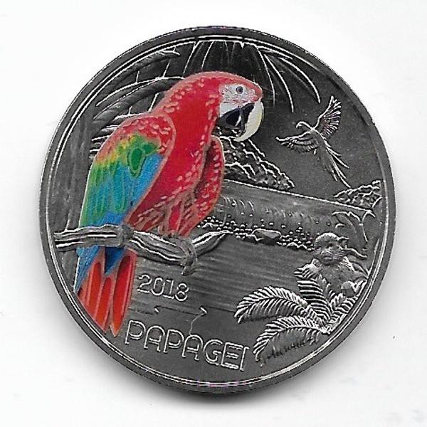 ANK Nr. 06 Tiertaler 3 Euro Österreich Papagei 2018