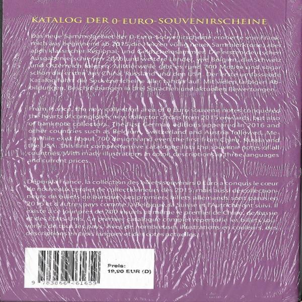Katalog der O Euro Souvenirscheine 1 Auflage 2018